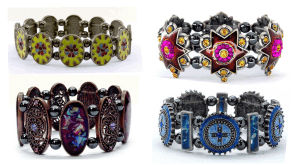 magnetic fancy beaded bracelets