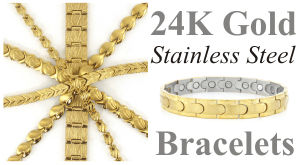 magnetic gold bracelets