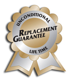 unconditional life time replacement guarantee