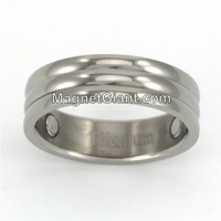 Mens Titanium Band Ring Gold Silver Design Jewelry